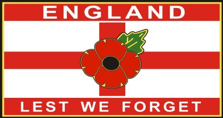 Poppy Car Window Sticker - St George England Lest We Forget